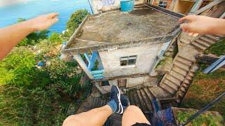 【主観映像】リオデジャネイロの屋上でパルクール