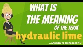 What is HYDRAULIC LIME? What does HYDRAULIC LIME mean? HYDRAULIC LIME meaning & explanation