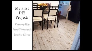 DIY | How To Use Contact Paper On Floors