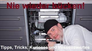 Nie wieder bücken! Geschirrspüler AEG FSE63800P ComfortLift Spülmaschine Review deutsch