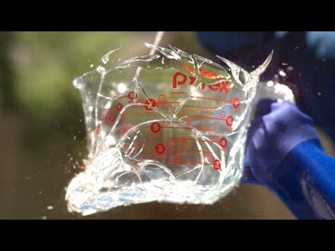 Glass Explosion at 343,000FPS! - The Slow Mo Guys