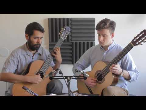 Playing a duet by Sergio Assad; recorded at my teaching studio