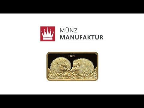 Video - 1 oz MünzManufaktur Motivbarren Igel