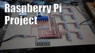 Raspberry Pi: Automated lighting control using 8 channel relay and PIR motion