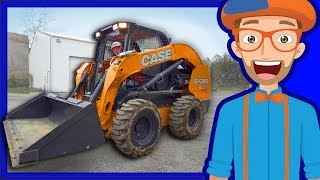 Construction Vehicles for Kids with Blippi   Skid Steer