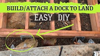How to Build and Attach a Dock to Land - EASY Diy with Barrels