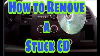 How to Remove a Stuck CD- (my way)
