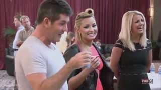 Demi Lovato and Simon Cowell - Funniest moments on The X factor - Season 2 (3/6) LEGENDADO