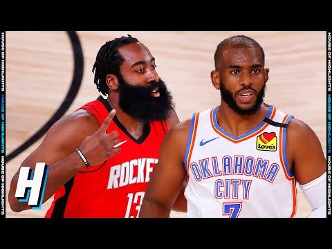 Oklahoma City Thunder vs Houston Rockets – Full Game 2 Highlights | August 20, 2020 NBA Playoffs