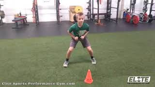 Youth Athlete Developing Explosive Agility