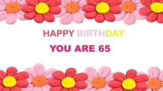 65 YEARS OLD Birthday Postcards & Postales