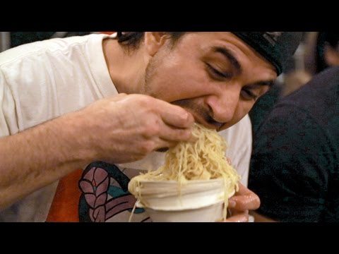Epic ramen eating contest