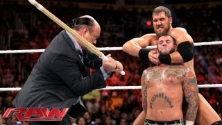 CM Punk Vs. Curtis Axel   WWE App Vote Match: Raw, August 26, 2013