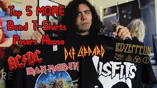 Top 5 MORE Metal/Rock Band T-Shirts Posers Wear
