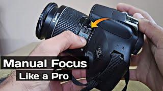 Manual focusing with any camera for tack sharp photos   Manual Focus Kaise Karein   Canon 1500D