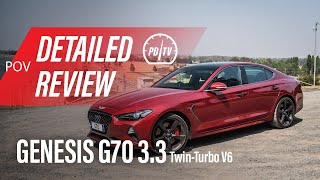 Genesis G70 3.3T Ultimate Sport: Detailed review (POV)