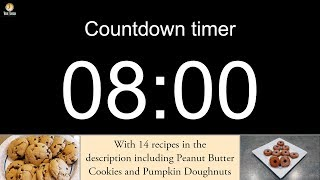 8 minute Countdown timer with alarm (including 14 recipes)
