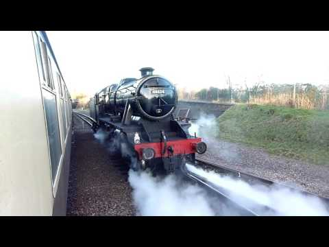 LMS 8F 48624 footplate ride on the Great Central Railway 2nd…