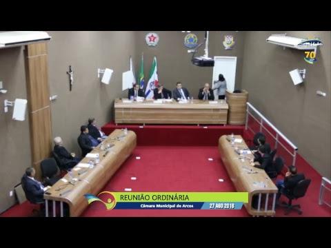 Reunião Ordinária (27/08/2018) - Câmara de Arcos