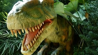 WOW! Dinosaur Come Alive At ZOO RASSIC PARK At Singapore Zoo.Artificial Model Of Dinosaurs
