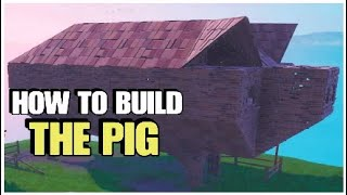 How To Build The Pig By Lucky Landing | Fortnite Battle Royale
