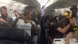 Golden State Warriors Sing 'CoCo' on Team Plane