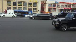 Russian President V. Putin Motorcade and Police Escort // Moscow Sep16