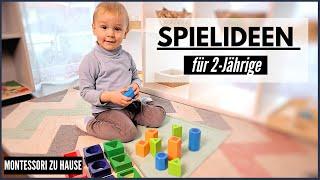 SINNVOLLE SPIELIDEEN für 2-JÄHRIGE | 21-24 Monate Alt| MONTESSORI REGAL FÜR KLEINKINDER