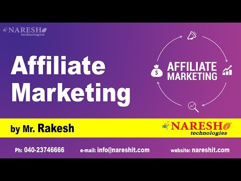 What is Affiliate Marketing by Mr Rakesh
