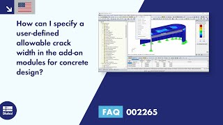 FAQ 002265 | How can I define a user-defined allowable crack width in the add-on modules for concrete design?