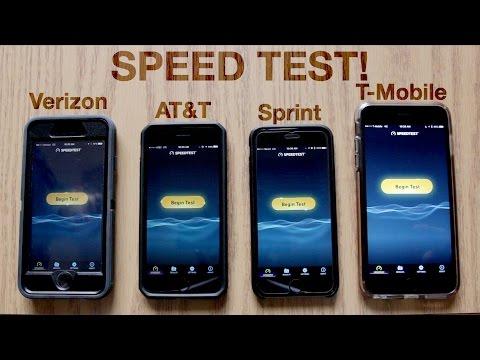 Verizon vs. AT&T vs. Sprint vs. T-Mobile Speed Test!   November 2016