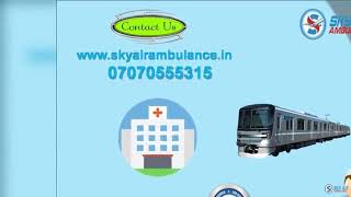 Select Hi-class MICU Setup Train Ambulance Service in Guwahati