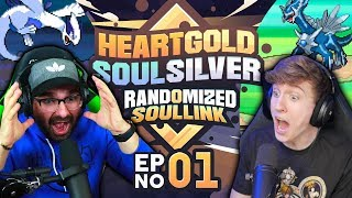 THE EPIC BET! | Pokemon Heart Gold and Soul Silver Soul Link Randomized Nuzlocke EP 01