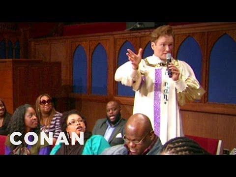 Conan členem baptistického sboru