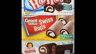 Hostess Vs Little Debbie Vs Great Value: Swiss Rolls Blind Taste Test