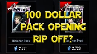 Star Wars: Force Arena - $100 Diamond Pack Opening Did I Get Ripped Off?