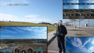 Parrot Bebop Drone FPV flying with VR Glasses and more