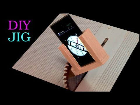 The smartphone as an inclinometer for the table saw. Does this work? - DIY JIG