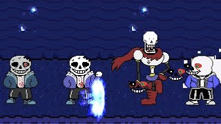 Kids play UNDERTALE MUGEN - Team Double Horror!Sans VS MUGEN Characters