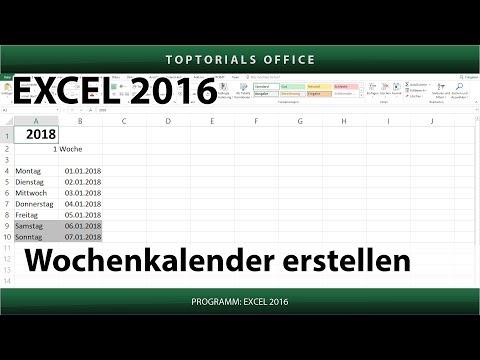 Dynamischen Wochenkalender erstellen (Excel)