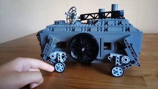 Шагающая машина на паровом двигателе из лего. Замена пароходу.