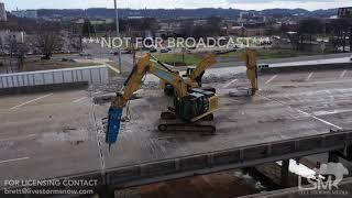 01-22-19 Birmingham,al Interstate 5820 closure drone video