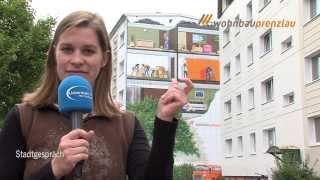 preview picture of video 'Prenzlau - Stadtgespräch TV schnippt sich durch die Baustellen der Wohnbau Prenzlau'