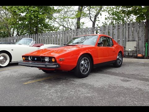 1974 SAAB Sonett III aka SAAB 97 in Orange & V4 Engine Sound on My Car Story with Lou Costabile