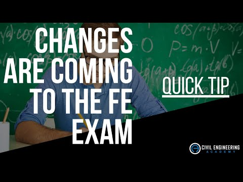 Changes Coming to the Civil FE Exam in July 2020 - Let's See What ...