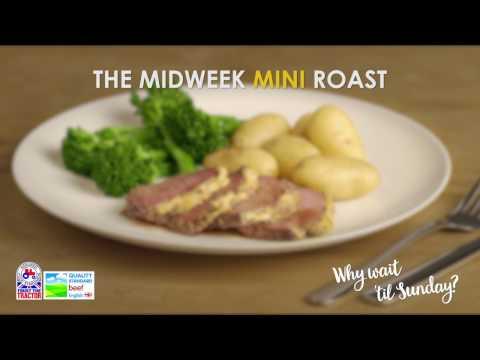 Mini Roast Beef with lemon, honey & horseradish