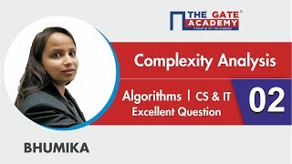 Complexity Analysis | 02 | Excellent Question - GATE Sol | Algorithms | Computer science Engineering