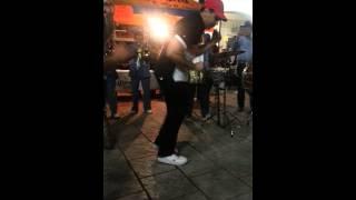 Italian guy dancing to Mexican banda music