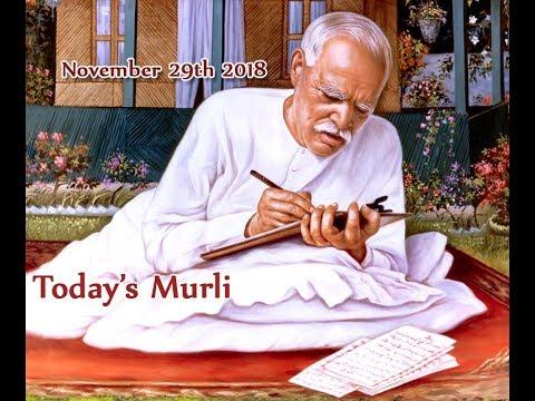 Prabhu Patra   29 11 2018   Today's Murli   Aaj Ki Murli   Hindi Murli (видео)