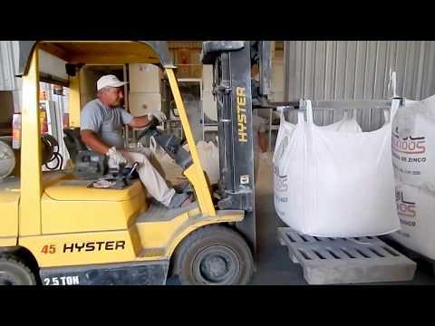 Segurança para empilhamento de big bag's em armazém